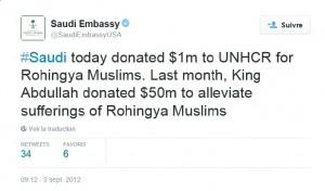 KSA Twitter Rohingya